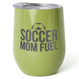 Soccer Stainless Steel Wine Tumbler - Soccer Mom Fuel