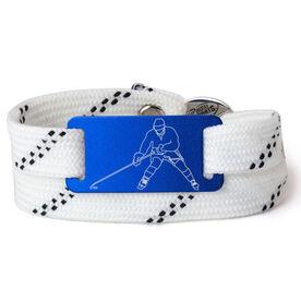 Adjustable Hockey Lace Bracelet With Slider - Player