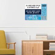 """Swimming 12.5"""" X 4"""" Removable Wall Tile - Thanks Coach (Autograph) Vertical"""