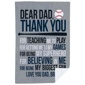 Baseball Premium Blanket - Dear Dad