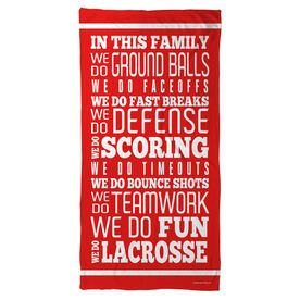 Lacrosse Beach Towel We Do Lacrosse