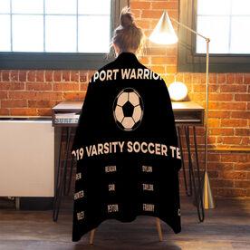Soccer Premium Blanket - Team Roster