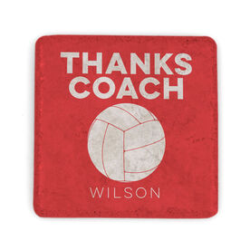 Volleyball Stone Coaster - Thanks Coach Volleyball