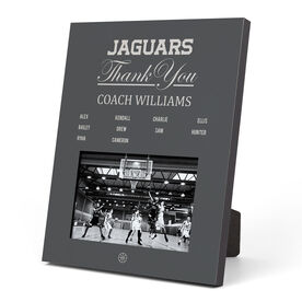 Basketball Photo Frame - Thank You Coach Roster