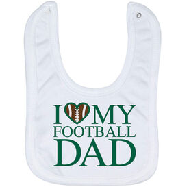 Football Baby Bib - I Love My Football Dad
