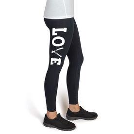 Skiing High Print Leggings Love Ski