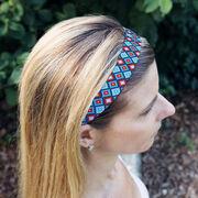 Athletic Juliband No-Slip Headband - Geometric Diamonds
