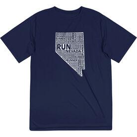 Men's Running Short Sleeve Tech Tee - Nevada State Runner