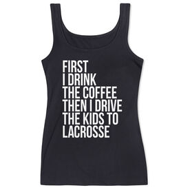 Lacrosse Women's Athletic Tank Top - Then I Drive The Kids To Lacrosse