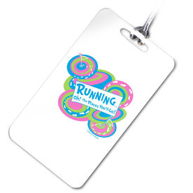 Running Oh The Places You'll Go Personalized Sport Bag/Luggage Tag