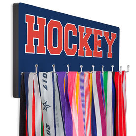 Hockey Hooked on Medals Hanger - Word