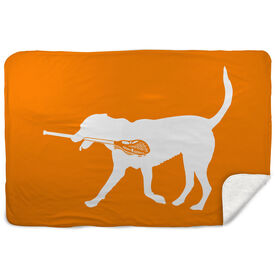 Guys Lacrosse Sherpa Fleece Blanket - Max The Lax Dog