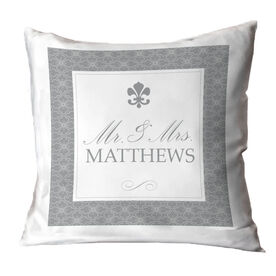 Personalized Throw Pillow - Mr. And Mrs. Elegant