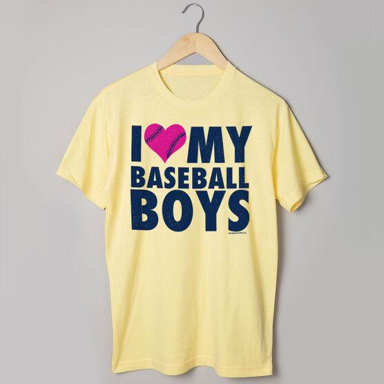 Baseball Tshirt Short Sleeve I Love My Baseball Boys