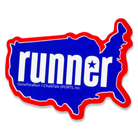 Runner USA Car Magnet - Fun Size