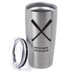 Baseball 20 oz. Double Insulated Tumbler - Crossed Bats Icon