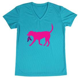 Women's Running Short Sleeve Tech Tee Roxi the Running Dog