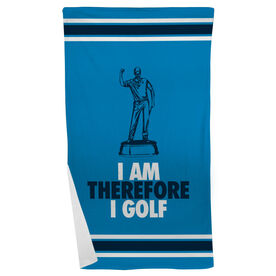Golf Beach Towel I Am Therefore I Golf