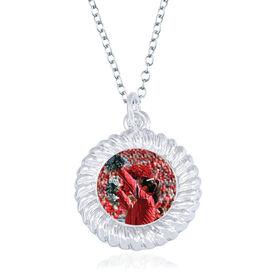Cheerleading Braided Circle Necklace - Custom Photo