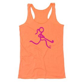 Field Hockey Women's Everyday Tank Top - Neon Pink Field Hockey Girl