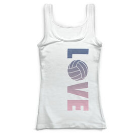 Volleyball Vintage Fitted Tank Top - Love