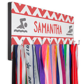 Swim Hook Board Your Name with Swimmer Chevron