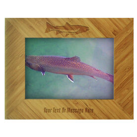 Fly Fishing Bamboo Engraved Picture Frame Brook Trout