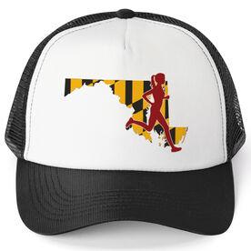 Running Trucker Hat - Maryland Female Runner