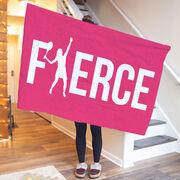 Tennis Premium Blanket - Fierce Girl