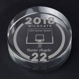 Basketball Personalized Engraved Crystal Gift - Custom Team Award
