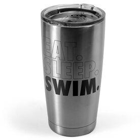 Swimming 20 oz. Double Insulated Tumbler - Eat Sleep Swim