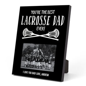 Guys Lacrosse Photo Frame - You're The Best Dad Ever