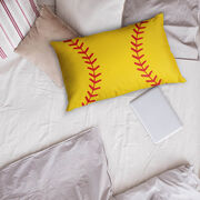 Softball Pillowcase - Close Up Stitches