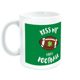 Football Coffee Mug Kiss Me I Play
