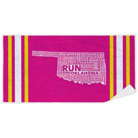 Running Premium Beach Towel - Oklahoma State Runner