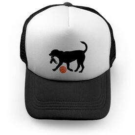 Basketball Trucker Hat Dog