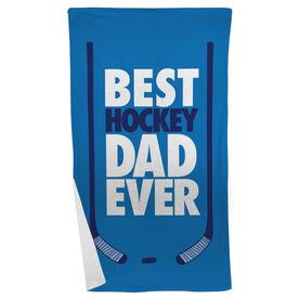 Hockey Beach Towel Best Dad Ever
