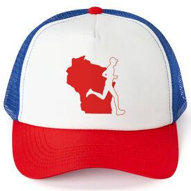 Running Trucker Hat - Wisconsin Male Runner