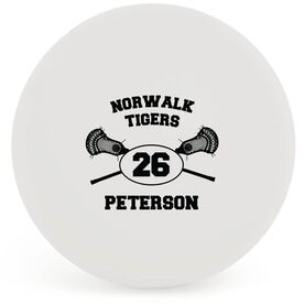 Personalized Player Name and Number Lacrosse Ball (White Ball)