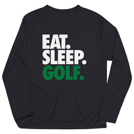 Golf Long Sleeve Performance Tee - Eat. Sleep. Golf.