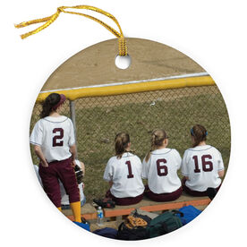 Softball Porcelain Ornament Custom Photo Softball