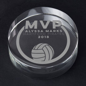 Volleyball Personalized Engraved Crystal Gift - MVP Award
