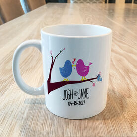 Love Birds Wedding Day Personalized Mug