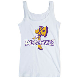 Lacrosse Women's Athletic Tank Top - New Hampshire Tomahawks Logo
