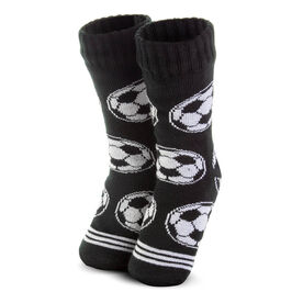 Soccer Slipper Socks with Sherpa Lining