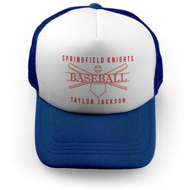 Baseball Trucker Hat - Personalized Crest