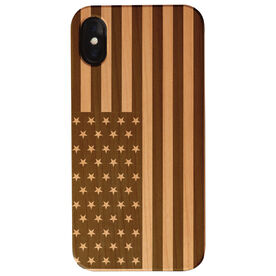Engraved Wood IPhone® Case - American Flag