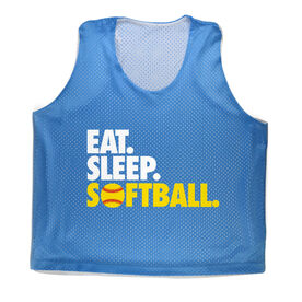 Softball Pinnie Eat. Sleep. Softball.