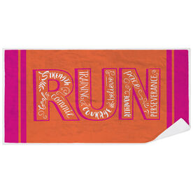 Running Premium Beach Towel - Run With Inspiration