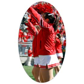 Cheer Oval Car Magnet Your Photo